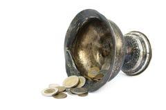 Antique silver bowl Stock Photos