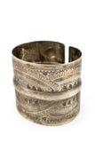 Antique silver bracelet Stock Photo