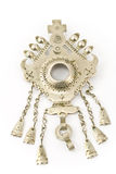Antique silver brooch from India Stock Photography