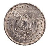 Antique silver dollar isolated Stock Images