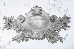 Antique silver emblem Royalty Free Stock Photography