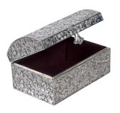 Antique Silver Embossed Chest Stock Photography