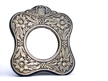 Antique silver frame Royalty Free Stock Photography