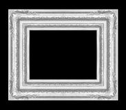 Antique silver frame isolated on black Royalty Free Stock Photography