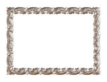 Antique silver frame isolated on white background Stock Photography