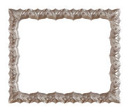 Antique silver frame isolated on white background Royalty Free Stock Photography
