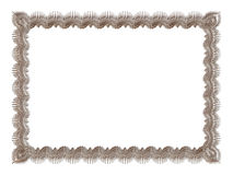 Antique silver frame isolated on white background Stock Image