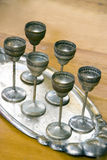 Antique silver glasses Royalty Free Stock Photography