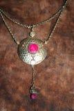 Antique silver jewellery Stock Photo