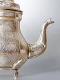 Antique silver jug detail Stock Image