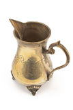 Antique silver jug for milk isolated Stock Photos
