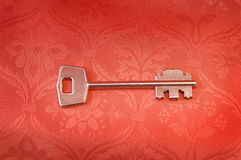 Antique silver key Stock Image