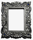 Antique silver picture frame Stock Images