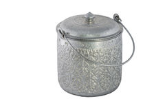 Antique silver pot isolated Stock Image
