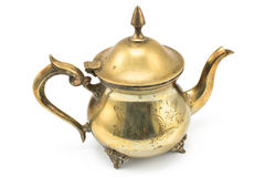Antique silver teapot Stock Images
