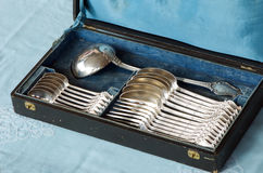 Antique silverware Stock Image