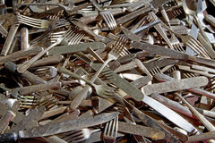 Antique Silverware Stock Photography