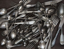 Antique silverware Royalty Free Stock Photo