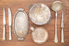 Antique silverware Royalty Free Stock Photography