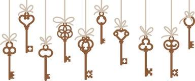 Antique skeleton keys Stock Image