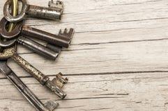 Antique skeleton keys Stock Images