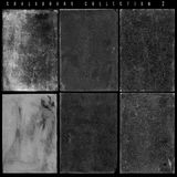 Antique Slate Chalkboards Series 2. Collection of black and white worn, scratched, grunge chalkboard textures. Two in a series of pattern collections royalty free stock images