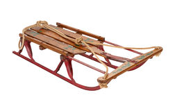 Antique Sled isolated with a clipping path Royalty Free Stock Photo
