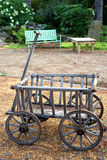 Antique small wooden wagon Stock Photo