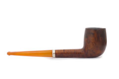 Antique Smoking Pipe on White Stock Photos
