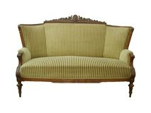 Antique sofa, Biedermeier sofa Royalty Free Stock Photos
