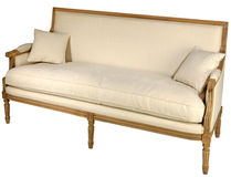 Antique sofa isolated Royalty Free Stock Photography