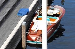 Antique Speedboat Royalty Free Stock Photography