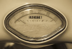 Antique speedometer Stock Photography