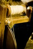 Antique spinning machine Stock Photography