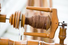 Antique spinning machine Royalty Free Stock Photo