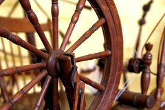 Antique spinning machine Stock Photos