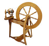 Antique Spinning Wheel Stock Photography