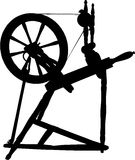 Antique Spinning Wheel Stock Image