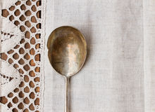 Antique  spoon Stock Photo