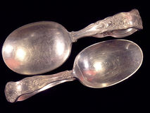 Antique Spoons (2) Royalty Free Stock Photography