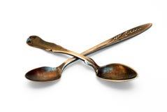 Antique spoons Stock Photos
