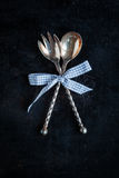 Antique spoons Royalty Free Stock Photo