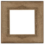 Antique square photo frame Royalty Free Stock Photos