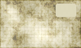 Antique squared paper sheet Royalty Free Stock Photography