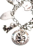 Antique st. christopher medal Stock Photography