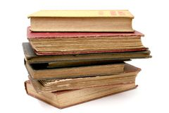 Antique Stack Of Books. Stack of Old Books, Antique books, isolated Stock Image