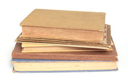 Antique Stack of Books. Antique stack of five small books Stock Photo