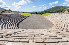 Antique stadium in Ancient Messina,  Greece Stock Photography