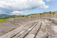 Antique stadium in Ancient Messina,  Greece Royalty Free Stock Photo