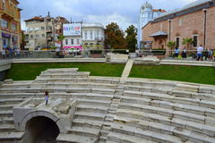 Antique Stadium Plovdiv Bulgaria Royalty Free Stock Photos